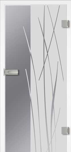 Bambus Ganzglas Tür
