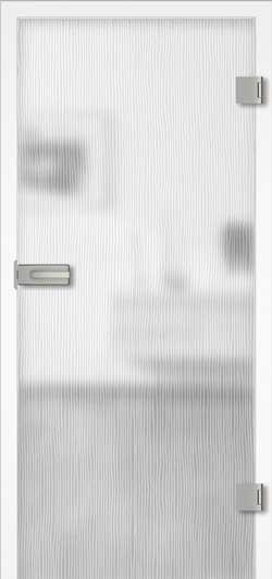 Wood 2 Dekor Aufrecht Ganzglas Tür
