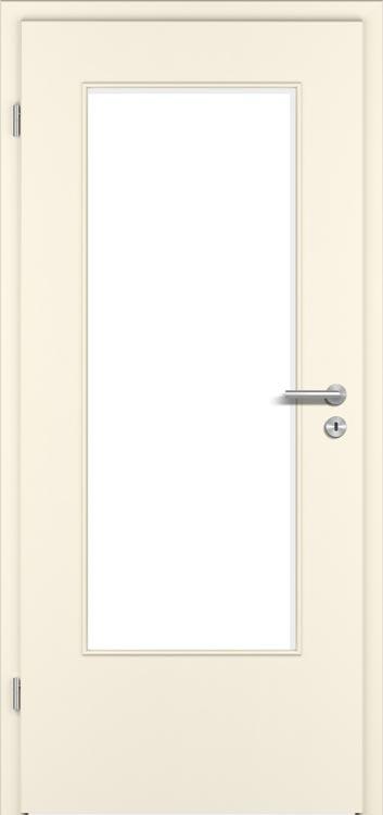 CPL Premium Struktur Weiß Dekor Aufrecht mit Lichtausschnitt